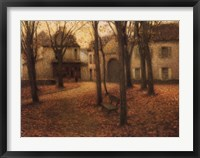 Framed Le Village en Automne