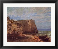 Framed Cliffs At Etretat After a Storm