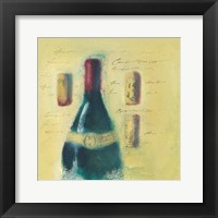 Framed White Wine Bottles