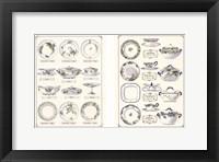 Framed Porcelain Designs