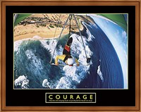 Framed Courage - Hang Glider