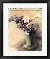 Lilac and Columbine Framed Print