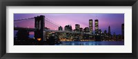 Framed Brooklyn Bridge and New York City Skyline