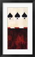 Framed Three of Spades