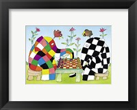 Framed Elmer and Wilbur Play Chess
