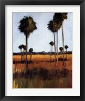 Framed Tall Palms I