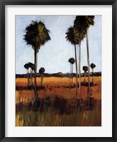 Framed Tall Palms I