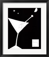 Framed Black and White Martini I