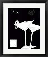 Framed Black and White Martini II