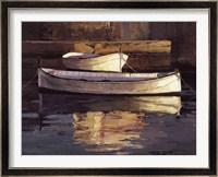 Framed Barcas al Atardecer
