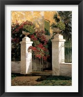 Framed Jardi Colonial