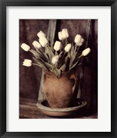 Framed Tulips on Bench