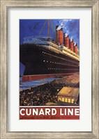 Framed Cunard Line