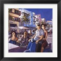 Framed Vespa in Miami