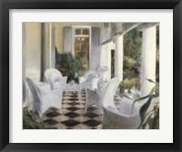 Framed White Summer Terrace