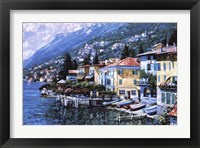 Framed Lugano Coastline
