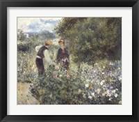 Framed Picking Flowers