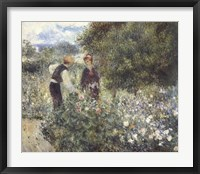 Framed Picking Flowers