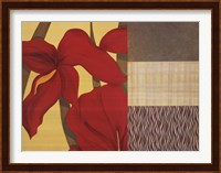 Framed Collage with Red Tulips II