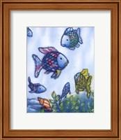 Framed Rainbow Fish VI