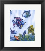 Framed Rainbow Fish VI