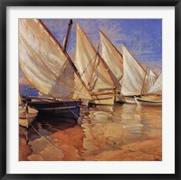 Framed White Sails I