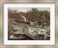 Framed Coryell's Ferry 1776