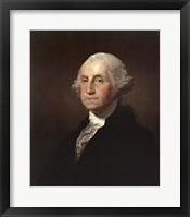 Framed George Washington - Left
