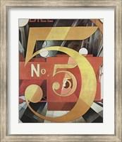 Framed Figure Five in Gold