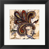 Framed Bird Of Paisley II