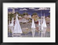Framed Captain's Harbor