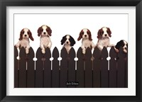 Framed Curious Puppies