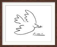 Framed Dove of Peace