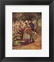 Framed Gathering Hollyhocks