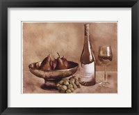 Framed Fruit And Wine II