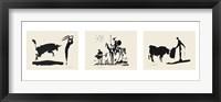 Framed Bullfight-Picador
