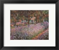 Framed Artist's Garden At Giverny
