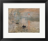 Framed Impression, Sunrise, c.1872 (green)