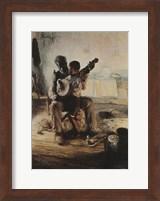 Framed Banjo Lesson