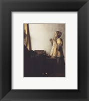 Framed Woman With A Pearl Necklace