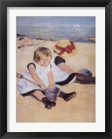 Framed Children Playing On The Beach