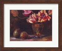 Framed Parrot Tulips With Pears