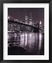 Night View Brook Brdgman Skyline Framed Print