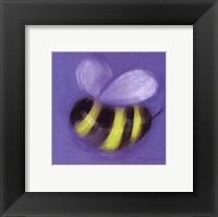Framed Bee On Blue