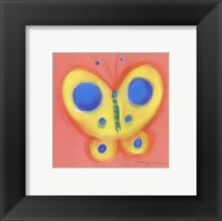 Framed Butterfly On Pink