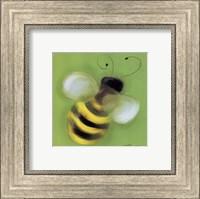 Framed Bee On Green