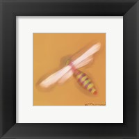 Framed Dragonfly On Yellow