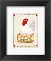 Framed Jones Miller Rooster