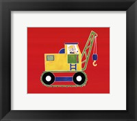 Cat in Crane Framed Print