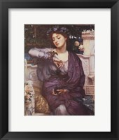 Framed Libra and Her Sparrow 1907